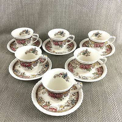 Vintage Demitasse Cup & Saucer Johnson Brothers Devonshire Set of 6 118579 Tea