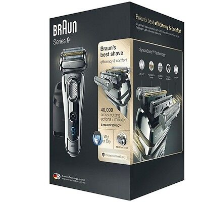Braun Series 9 9295cc - Rasierer mit Clean&Charge Station + SyncroSonic Technik