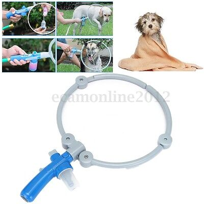 Foldable Adjustable 360 Degree Woof Washer Pets Bathing Ring Cleaner Massager