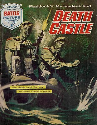 1968  No 351 34942  Battle Picture Library DEATH CASTLE