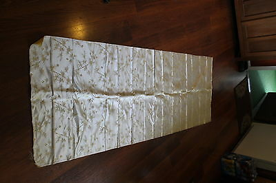 Vintage 2 sided fABRIC Gold Beige Yellow STANDARD MADE HONG KONG SILK Material
