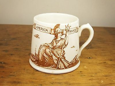 Vintage Royal Doulton China Victory and Peace 1919 mug cup WWI Great War allies