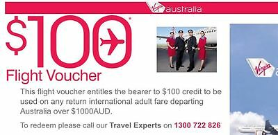$100 voucher for planes tickets with Virgin Airline x20