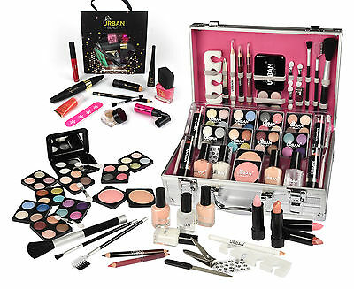 74 Piece Makeup Vanity Case Cosmetic Set Make Up Beauty Storage Urban Beauty
