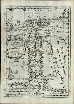 Egypt Nile Delta Cairo Barca Arabia Red Sea 1669 Sanson old antique map