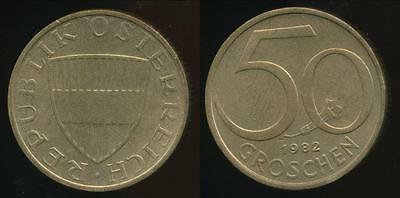 Austria, Republic, 1982 50 Groschen - Uncirculated