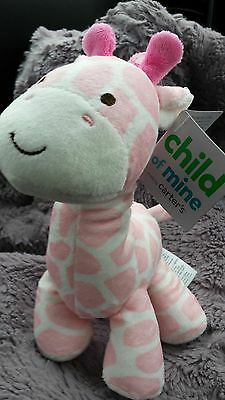 NWT GIRAFFE PINK white l8vey  CARTER'S BABY RATTLE PLUSH TOY CARTERS
