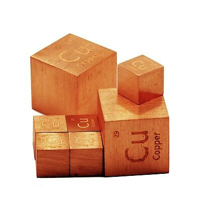 Copper Metal 1 Inch Density Cube 99.95% Pure for Element Collection