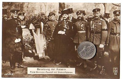 Russian White Army General BERMONT-AVALOV with his Staff Officers