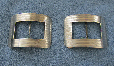 Pair of Vintage Sterling Silver Shoe Buckles Clips- Simons Brothers