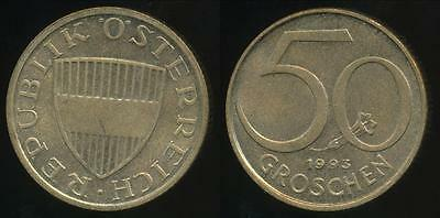 Austria, Republic, 1993 50 Groschen - Uncirculated