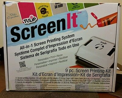 "TULIP ""ScreenIt"" Printer Clothing & Fabric Screen Printing Machine #29681 *NEW*"