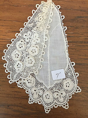 Antique Victorian Era Lace Jabot - handmade