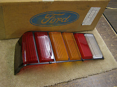 NOS OEM Ford 1981 Mustang Tail Light Lens - Export - W/ Amber Insert