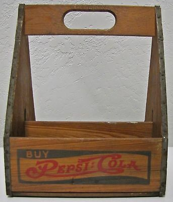 HTF Vintage Wooden Pepsi-Cola Six Pack Bottle Carrier Very Good UC HTF NICE