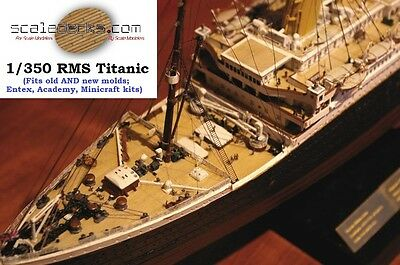 Wood Deck for 1/350 Titanic Academy or Minicraft kits by Scaledecks.com