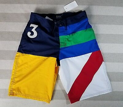 NWT Polo Ralph Lauren Boys Board Length Swim Trunks #3 Size L (14-16) & Small