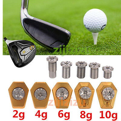 2g/4g/6/8g/10g Golf Weight with Screw Replacement for Taylormade M2 Driver  Gold