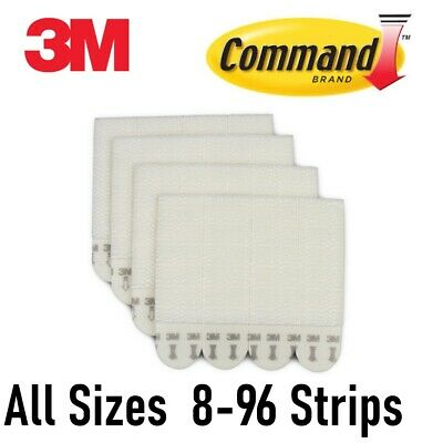 3M Command Picture Hanging Strips SMALL MEDIUM LARGE - BULK (12,24,32,48,64 pcs)