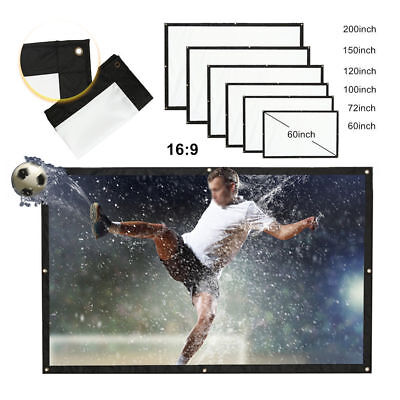 100 150 Inch 16:9 Film Theater Movie Projection Screen Canvas Projector Curtain