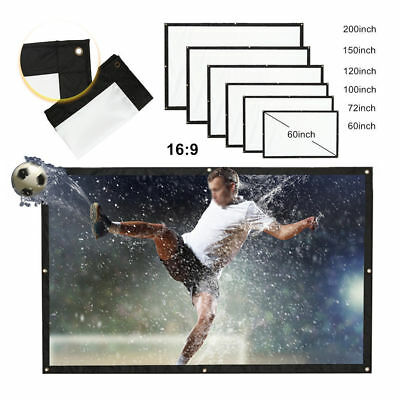 "100"" 150""Inch 16:9 Film Theater Movie Projection Screen Canvas Projector Curtain"