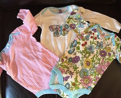 Baby Boden 3 Long Sleeve Vests Tops 6-12 Months