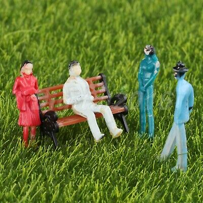 100pcs Painted Figures Model People for Railway Train Layout Scenery 1:200 Scale