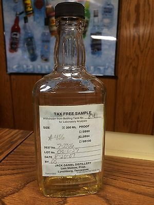 Rare Jack Daniels 375Ml Glass Tax Free Sample Bottle -No 150Th Gold Riverboat