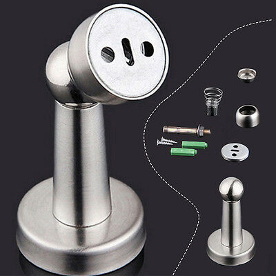 Stainless Steel Magnetic Door Stop Stopper Holder Catch & Fitting Screws