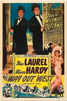 Way Out West - Laurel and Hardy - A4 Laminated Mini Poster