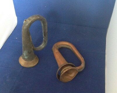 Vintage Copper And  Brass Bugles