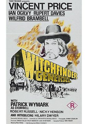 Witchfinder General - Vincent Price - A4 Laminated Mini Poster