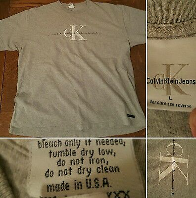 vintage calvin klein jeans t shirt made in usa
