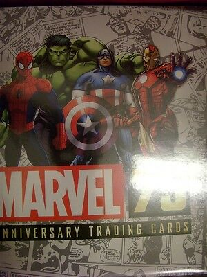 Marvel 75Thy Anniversary 2014 Trading Card Binder W/ Promo P2 Rittenhouse Comic