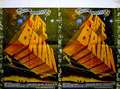 LIFE OF BRIAN 1979 Monty Python John Cleese Michael Palin UK QUAD POSTER