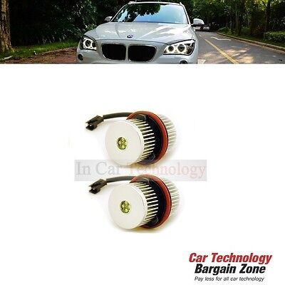 BMW 5 Series E60/E61 (2004-2007) Xenon Headlight White LED Angel Eyes Halo Light