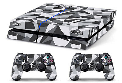 Skin PS4 CAMOUFLAGE GEOMETRIC limited edition DECAL COVER Playstation 4