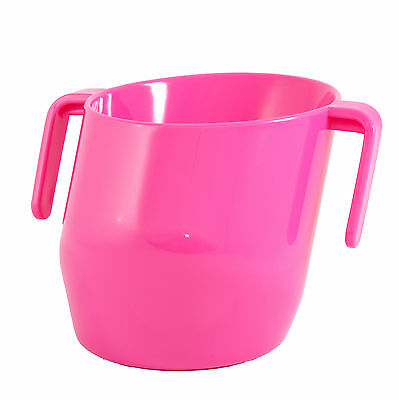 Bickiepegs Doidy Baby Unique Slant Toddler Training Easy Grip Handle Cup Cerise