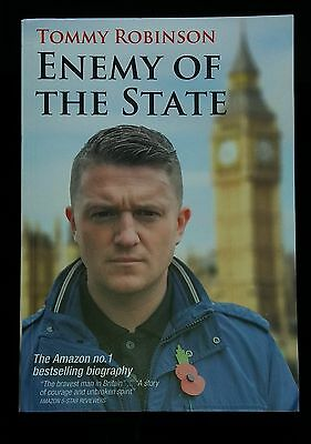 Tommy Robinson Enemy Of The State Paperback Book EDL England Troops Islam NEW