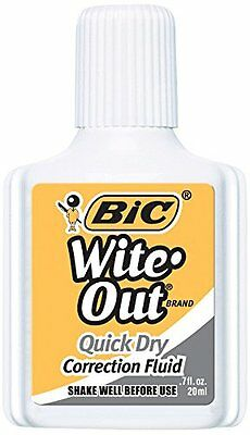 BIC Wite-Out Quick Dry Correction Fluid - 3 Pack BICWOFQD324