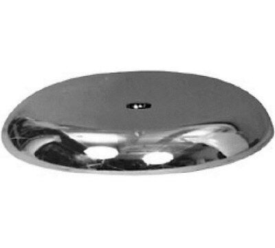 """Store Display Fixtures 2 NEW 5"""" DIAMETER ROUND CHROME BASE WITH 3/8"""" FITTING"""