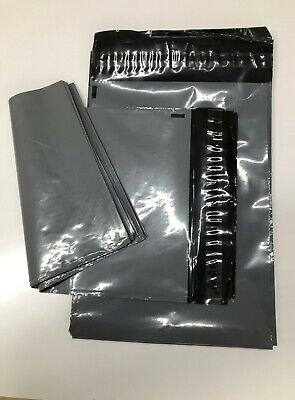 """100 x 12""""x16"""" Strong Grey Poly Postal Mailing Bags Self Seal """"Special Offer''"""