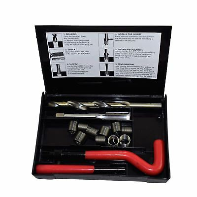 """7/16"""" x 26 BSC Thread Tap Repair Cutter Kit Helicoil Damaged Threads 14pc Kit"""