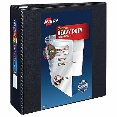 Avery Nonstick Heavy-Duty EZD Reference View 4 Inch Black Binder 79604