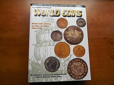 Standard Catalog of World Coins 1601-1700 2nd edition nice used