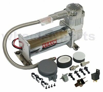 Viair 444 Single Air Ride Compressor Kit 150psi Off Switch & Relay Included