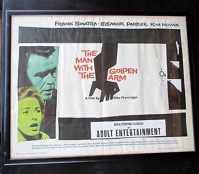 Original Saul Bass Man With the Golden Arm movie poster Sinatra