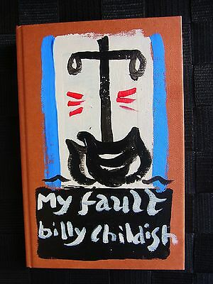 Billy Childish Unique small gemlike painting on book signed My Fault Vintage