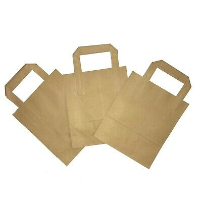 25 SMALL BROWN KRAFT CRAFT PAPER SOS CARRIER BAGS Gift Shops