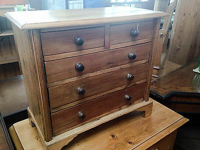 Antique Apprentice Made Miniature Chest Of Drawers REDUCED